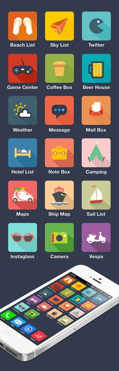 Travel FLAT icon design #flaticons #iconsets #freeicons #infographics