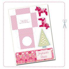 - Free Printable Dala Horse Pink Box - Boite Cheval Dala Rose pour Mendients en Chocolats à Imprimer Gratuite -