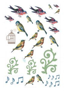 Free bird printables from Papercraft Inspirations magazine, issue 161