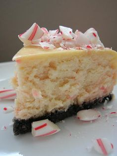 Save a Peppermint Stick for Old Saint Nick… Peppermint Candycane Cheesecake with Chocolate Cookie Crust!