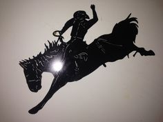 Cowboy Bucking Bronco by SCHROCKMETALFX on Etsy