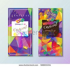 Set. Carnival abstract background vector illustration