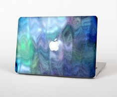 """The Vivid Blue Sagging Painted Surface Skin Set for the Apple MacBook Air 13"""" from Design Skinz, INC."""