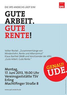 SPD Andechs: Gute Arbeit. Gute Rente!
