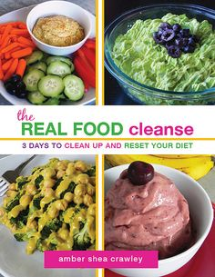 The REAL FOOD Cleanse ebook: 3-day cleansing diet with meal plan, all recipes, shopping lists, prep steps, etc. Vegan, gluten-free, grain-free, soy-free, nut-free, oil-free, and sugar-free. All real food - no juice, lemonade, or starving!