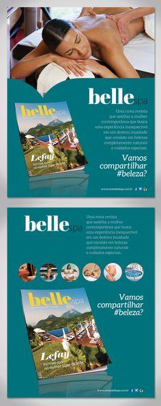 Anúncio para a divulgação da revista Belle Spa - #design #anuncio