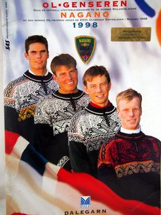 Nagano 1998 Olympic Winter Games Dale Of Norway Dale Garn Knitting Booklet by NeedANeedle, $29.75
