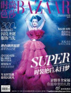 awesome HARPER\'S BAZAAR CHINA | Capa Dezembro 2012 | Daphne Guinness por David LaChapelle