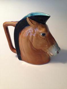 Antique Sarreguemines Majolica Horse Head Pitcher   eBay