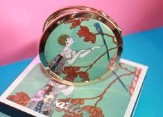 V&A Art Deco Pattern Powder Compact Mirror by Stratton. George Barbier's Art Deco L'Oiseau Volage. In Original Gift Box velvet pouch. Makeup Towel, Stratton Compact, Presentation Cards, Art Deco Pattern, Victoria And Albert Museum, Compact Mirror, Makeup Geek, Makeup Organization, Pouch