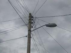 Polo, Lámpara, Luz, Cables