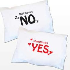 Rest your head on a personalised pillow case - a fun gift for her!