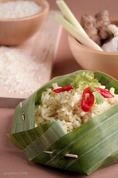 Nasi langgi~ Langgi Rice #Indonesian recipes #Indonesian cuisine #Asian recipes #Asian cuisine http://indostyles.com/
