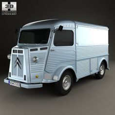 Citroen H Van 1964 by The model was created on real car base. It's created accurately, in real units of measurement, qualitatively and maximally clos Citroen Ds, Citroen Type H, Psa Peugeot Citroen, Mobile Catering, Car 3d Model, Automobile, Volkswagen Models, Vans, Camper Conversion