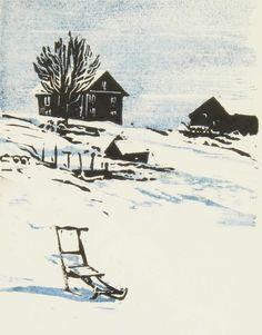 Lars Lerin (Swedish, b. 1954), 1984. Woodcut, 21 x 16cm.