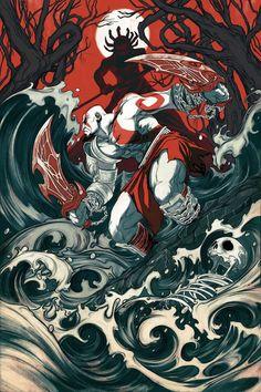 Nimit Malavia - The Fall - God of War variant
