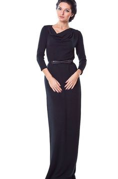 Dark Blue Maxi Dress Autumn CollectionDress by FashionDress8, $52.00