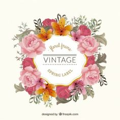 Floral vintage wreath | watercolor | sketches and illustrations