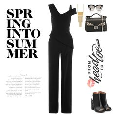 """""""Untitled #311"""" by aayushis on Polyvore featuring Roland Mouret, Stephanie Kantis, Maison Margiela, Christian Dior and Fendi"""