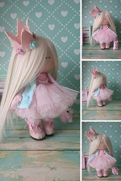 Princess doll Handmade doll Nursery doll Tilda doll Fabric