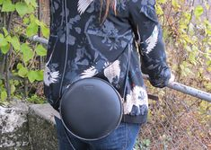 Leather Round Shoulder bag Review. Bag reviewed by FashionHunters's Blogger. Bag tested and reviewed. Turquoise Jewelry, Silver Jewelry, Leather Bag, Black Leather, Sterling Jewelry, Sterling Silver, Minimalist Bag, Round Bag, Minimal Fashion