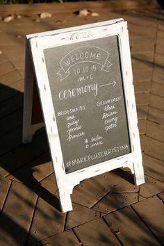 Wedding Ceremony Chalkboard Program Fairy Tale Photography Reception Programs Planning