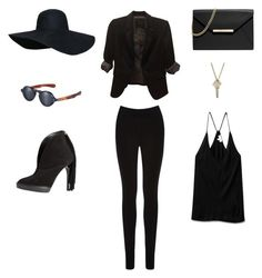 """ALL BLACK EVERYTHING"" by fivepcncpt on Polyvore"