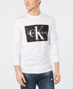 639fada740e Calvin Klein Jeans Men s Monogram Logo Graphic T-Shirt - White 2XL Mens  Monogram