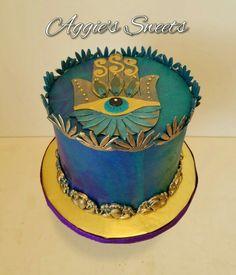 Hamsa Hand Birthday Cake