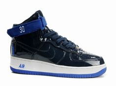 timeless design b43cc 8ebf0 Nike Air Force 1 High Rasheed Wallace Sheed Patent Black Blue! 79.70USD