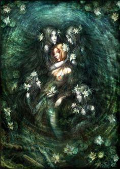 rusalki by Fish-KAart Alena Klementeva Magical Creatures, Fantasy Creatures, Rusalka, Mermaid Pictures, Mermaids And Mermen, Fantasy Illustration, Mermaid Art, Gods And Goddesses, Faeries
