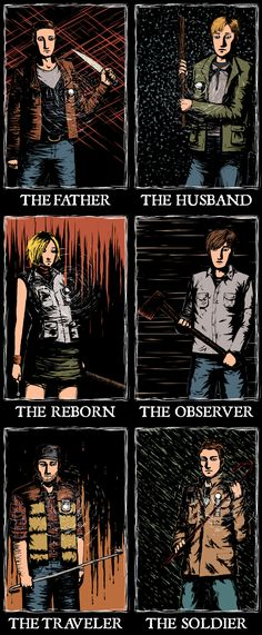The protagonists from Konami's 'Silent Hill' series of video games.