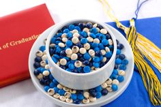 Personalized Graduation Candy Favors from My MMs – fun way to customize your graduation party! #classof2014