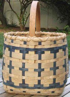 Blue Striped Basket