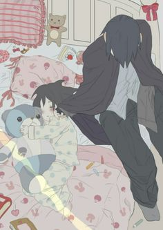 Papa Sasuke and baby Sarada