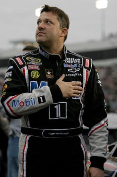Tony Stewart.. damn you Ed for making know about NASCAR, let alone have a favorite driver....
