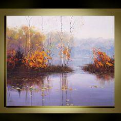 Original Oil Painting Modern Palette Knife fine art by QujunArt, $235.00