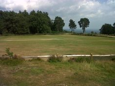 High up in the South Downs - cricket?