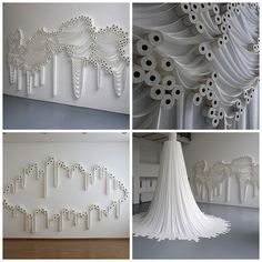If you were convinced that TP'ing is the only alternative use for toilet paper, the Trans-Layers installation by Sakir Gökcebag will broaden your horizons. A Turkish artist, currently based in Germany, thought of a way to set up multiple rolls of toilet paper into surprisingly beautiful forms and patterns, creating an urban and minimalistic installation.
