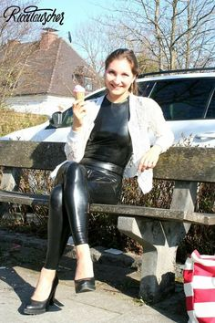"""""""Latex in public"""" on Städtereisen. 27 photos by Ricci Tauscher - Home Catsuit, Kinky, Hot, Erotic, Leather Pants, Leggings, Womens Fashion, How To Wear, Clothes"""