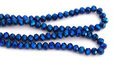 10 Perles à Facettes bleu brillant en verre octogonale 4x6mm ref PFO2016012 : Perles en Cristal, Swarovski® par creatist