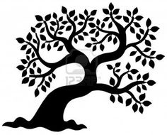 oak tree silhouette - Google Search