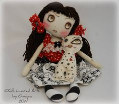 Tori and Dolly OOak Collectible Art Doll Creepy cute Gothic FREE ShiPPing World WiDe