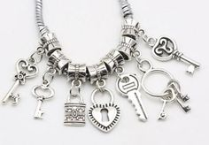 Cheap beads fit, Buy Quality jewelry making directly from China diy handmade Suppliers: Tibetan Silver Plated Key Lock Love Charms Beads fit Original European Bracelet Bead Necklace Jewelry Making DIY Handmade Silver Bracelets, Jewelry Bracelets, Key Bracelet, Wholesale Beads, Buy Wholesale, Love Charms, Diy Necklace, Minimalist Jewelry, Plaque