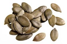 """Magnesium and zinc-rich pumpkin seeds are a superfood that promotes eye and skin health. They maintain collagen and skin renewal and contain """"good"""" cholesterol (HDL), which can help with joint pain and headaches in postmenopausal women. They are also known to stimulate hair growth and protect from pollutants.    - ELLE.com"""