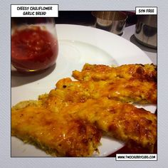 Yep, cheesy garlic bread. So it does indeed use cauliflower as a base but still, syn free garlic bread on Slimming World is no bad thing! Remember, at www.twochubbycubs.com we post a new Slimming World recipe nearly every day. Our aim is good food, low in syns and served with enough laughs to make this dieting business worthwhile. Please share our recipes far and wide! We've also got a facebook group at www.facebook.com/twochubbycubs - enjoy!