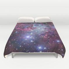 Nebula Galaxy Duvet Cover by RexLambo - $99.00