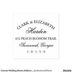 Custom Wedding Return Address Stamp