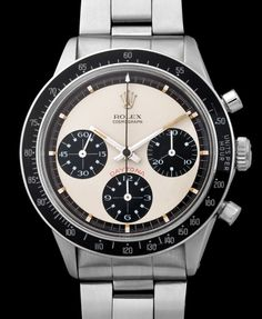"""Rolex """"The Paul Newman 6264 with Brown Chapter Ring"""" for sale by a trusted dealer on Rolex Passion Market, the No.1 Vintage Rolex Marketplace!"""