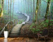 Details about Wall removable sticker wallpaper vinyl mural fog forest Amazing illusion for your interior! Removable sticky mural, wallpaper, vinyl sticker, peel and stick. Green forest in fog. High quality self-adhesive peel and stick mural. Wallpaper Floor, Modern Wallpaper, Nature Wallpaper, Forest Wallpaper, Tree Wallpaper, Vinyl Wallpaper, Forest Room, Forest Mural, Forest Theme